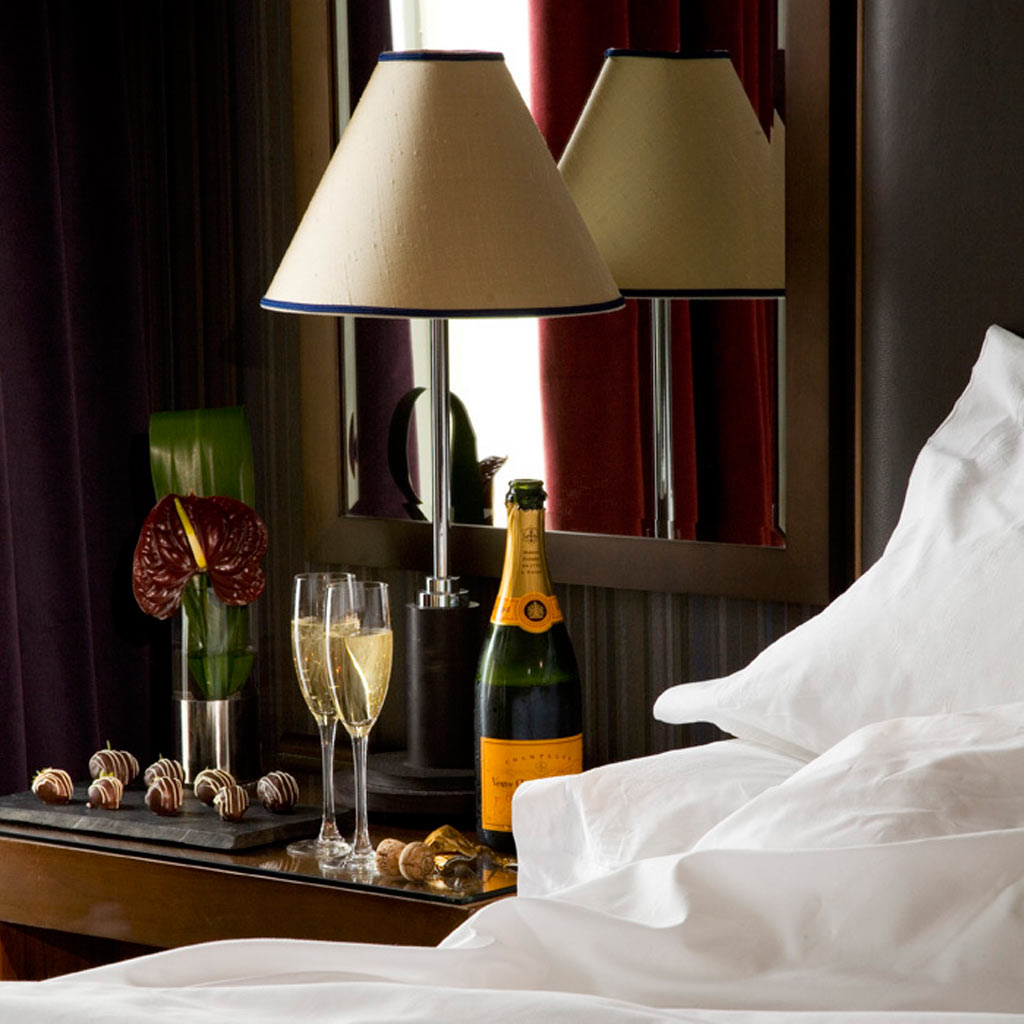 Malmaison hotels bed champagne
