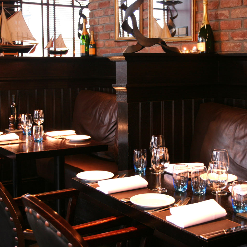 Edinburgh Malmaison brasserie table